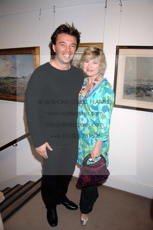ISSY VAN RANDWYCK and her husband MR EDWARD HALL son of Peter Hallat the Sotheby's Summer Party 2007 at their showrooms in New Bond Street, London on 4th June 2007.<br /><br />NON EXCLUSIVE - WORLD RIGHTS