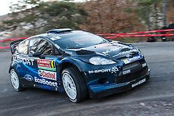 14.01.2014, Shakedownstrecke, Monte Carlo, FRA, FIA, WRC, Rallye Monte Carlo, Shakedown, im Bild EVANS Elfyn / BARRITT Daniel ( M Sport Ltd (GBR) / Ford Fiesta RS ) // during the Shakedown of FIA Rallye Monte Carlo held near Monte Carlo, France on 2014/01/14. EXPA Pictures © 2014, PhotoCredit: EXPA/ Eibner-Pressefoto/ Neis<br /> <br /> *****ATTENTION - OUT of GER*****