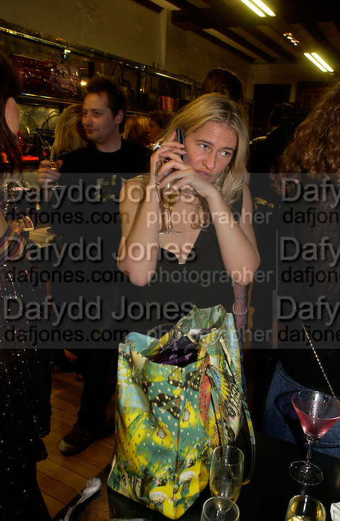 Party hosted by Isabella Blow in honour of Shaun Leane to celebrate his jewelry collection. Liberty's. London. 8 December 2004. ONE TIME USE ONLY - DO NOT ARCHIVE  © Copyright Photograph by Dafydd Jones 66 Stockwell Park Rd. London SW9 0DA Tel 020 7733 0108 www.dafjones.com
