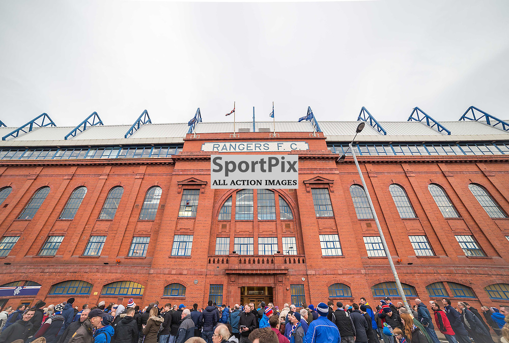 Frontage of Ibrox ahead of the match between Rangers and Hibernian (c) ROSS EAGLESHAM | Sportpix.co.uk