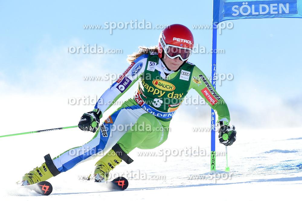 22.10.2016, Rettenbachferner, Soelden, AUT, FIS Weltcup Ski Alpin, Soelden, Riesenslalom, Damen, 1. Durchgang, im Bild Ana Drev of Slovenia // in action during 1st run of ladies Giant Slalom of the FIS Ski Alpine Worldcup opening at the Rettenbachferner in Soelden, Austria on 2016/10/22. EXPA Pictures © 2016, PhotoCredit: EXPA/ Erich Spiess