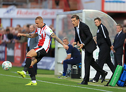 West Ham United manager Slaven Bilic shouts as Jordan Forster of Cheltenham Town clears - Mandatory by-line: Paul Roberts/JMP - 23/08/2017 - FOOTBALL - LCI Rail Stadium - Cheltenham, England - Cheltenham Town v West Ham United - Carabao Cup