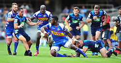 Cape Town-180317 Siya Kolisi of the DHL Stomers tackled by Sonny Bill Williams of the Blues in the Super Rugby tournament  at Newlands rugby stadium.Photograph:Phando Jikelo/African News Agency/ANA