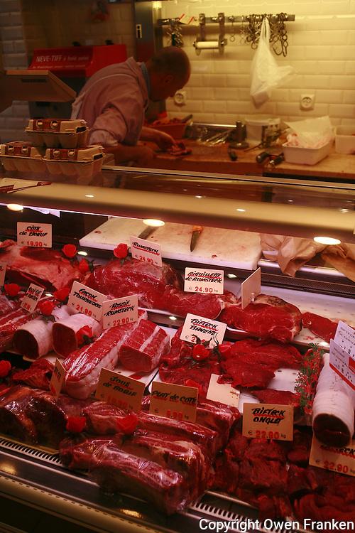 A butcher shop in the Marais, Paris
