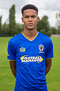 Toby Sibbick during the AFC Wimbledon Photocall 2017 at the Kings Sports Ground, New Malden, United Kingdom on 1 August 2017. Photo by Shane Healey.