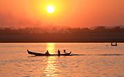 Mingun village boat trip near Mandalay, Burma