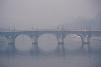 Paris - Pont Neuf in the fog