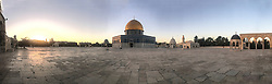 A panoramic view of the Dome of the Rock shrine in the old city of Jerusalem. From a series of photos commissioned by  British NGO, Medical Aid for Palestinians (MAP). (Editor's note: photo taken with an iPhone 6 using the pano function).