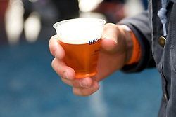 Scene at the 5th annual Consy Beer Festival, in Conshohocken, PA, on Saturday. (Bastiaan Slabbers for WHYY)
