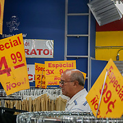 HIALEAH, FLORIDA - JUNE 24, 2016<br /> Low prices displays of some of the items for sale in Noooo (&ntilde;oooo) Que Barato,  in Hialeah, Florida. The store sells all kinds of goods and is a very popular stop for Cubans who are traveling to Cuba to stock up on supplies to carry to relatives in the island nation.<br /> (Photo by Angel Valentin/Freelance)