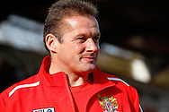 Graham Westley , Manager of Stevenage before the Sky Bet League 1 match at the Lamex Stadium, Stevenage<br /> Picture by David Horn/Focus Images Ltd +44 7545 970036<br /> 08/03/2014