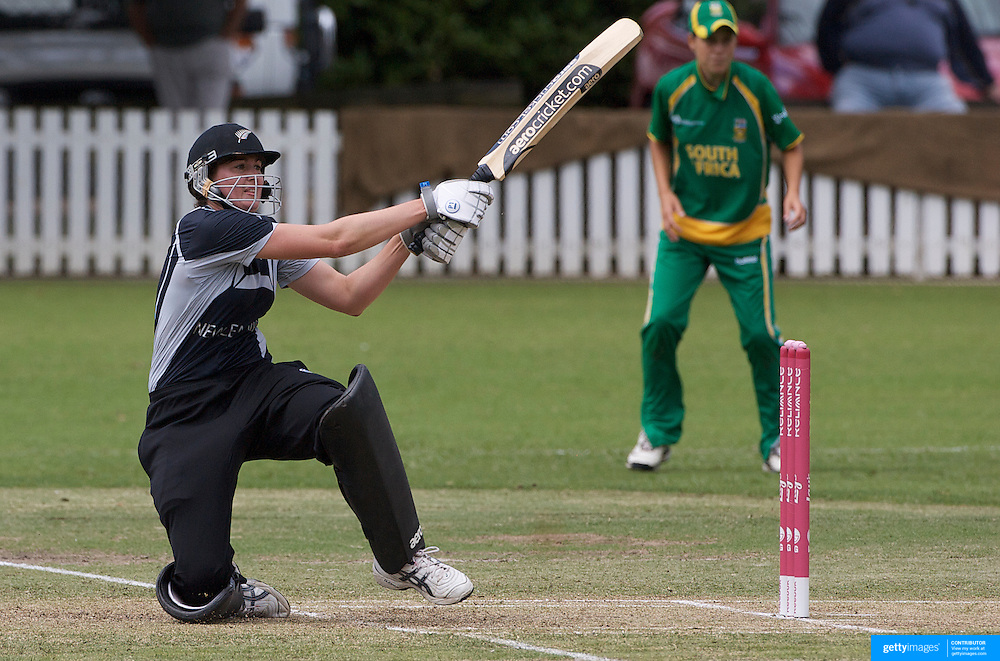 Nicola Brown batting during the South Africa  V New Zealand group A match at Bradman Oval in the ICC Women's World Cup Cricket Tournament, in Bowral, Australia on March 12, 2009. New Zealand won the match by 199 runs. Photo Tim Clayton