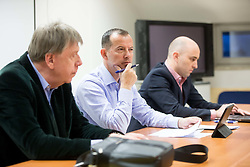 Drago Bahun, Enzo Smrekar, Jozko Krizan during meeting of Executive Committee of Ski Association of Slovenia (SZS), on March 15, 2017 in SZS, Ljubljana, Slovenia. Photo by Vid Ponikvar / Sportida