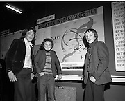 03/01/1975.01/03/1975.3rd January 1975.The Aer Lingus Young Scientist Exhibition at the RDS, Dublin...Picture shows L-R Joe McCarron, Anthony McCourt and Adrian McCourt from St Peter's CBS Foyle Hill Derry, who carried out a study of migration trends in Derry since 1968.