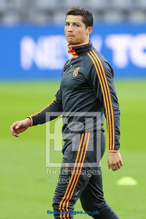 Cristiano Ronaldo of Real Madrid left the pitch early during training at Westfalenstadion, Dortmund<br /> Picture by Richard Calver/Focus Images Ltd +447792 981244<br /> 07/04/2014