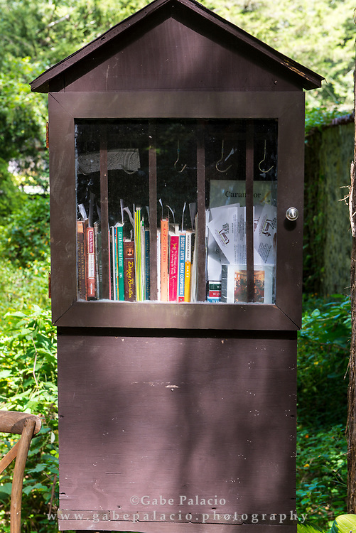 Little Free Library at Caramoor in Katonah New York on September 13, 2017. <br /> (photo by Gabe Palacio)