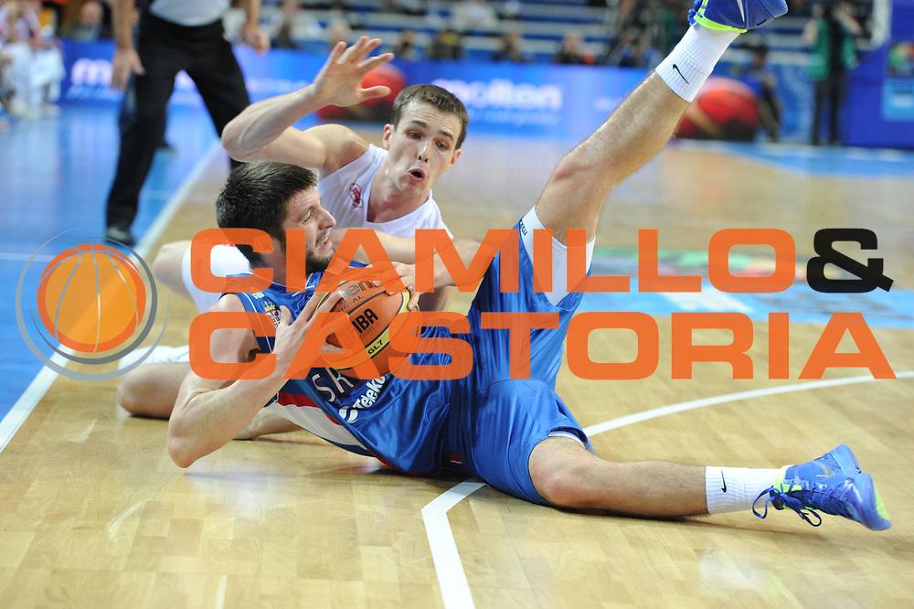 DESCRIZIONE : Kaunas Lithuania Lituania Eurobasket Men 2011 Quarter Final Round Russia Serbia<br /> GIOCATORE : Stefan Markovic<br /> CATEGORIA : curiosita<br /> SQUADRA : Serbia<br /> EVENTO : Eurobasket Men 2011<br /> GARA : Russia Serbia<br /> DATA : 15/09/2011<br /> SPORT : Pallacanestro <br /> AUTORE : Agenzia Ciamillo-Castoria/GiulioCiamillo<br /> Galleria : Eurobasket Men 2011<br /> Fotonotizia : Kaunas Lithuania Lituania Eurobasket Men 2011 Quarter Final Round Russia Serbia<br /> Predefinita :