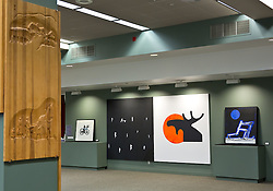 Traveling Norwegian art exhibit based on the anniversary of Norway's constitution shown in the Scandinavian center in the Anderson University Center at PLU  on Monday, Sept. 22, 2014. (Photo/John Froschauer