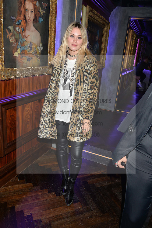 KARA ROSE MARSHALL at the launch of MNKY HSE Restaurant, 10 Dover Street, London on 19th October 2016.