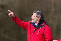 AERDENHOUT - 07-04-2012 - Coach Alejandro (Alex) Verga , zaterdag tijdens de wedstrijd tussen Nederland Jongens A en Engeland Jongens A (3-4), tijdens het Volvo 4-Nations Tournament op de velden van Rood-Wit in Aerdenhout.