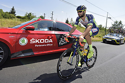 July 14, 2018 - Amiens Metropole, FRANCE - Belgian Guillaume Van Keirsbulck of Wanty-Groupe Gobert pictured in action during the eighth stage of the 105th edition of the Tour de France cycling race, from Dreux to Amiens Metropole (181 km), in France, Saturday 14 July 2018. This year's Tour de France takes place from July 7th to July 29th. BELGA PHOTO YORICK JANSENS (Credit Image: © Yorick Jansens/Belga via ZUMA Press)