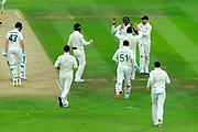 Wicket - Jofra Archer of England celebrates taking his first test match wicket of Cameron Bancroft of Australia during the International Test Match 2019 match between England and Australia at Lord's Cricket Ground, St John's Wood, United Kingdom on 16 August 2019.