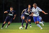 07-08-2008 Voetbal:BSV Sebnitz 68:Willem II: Sebnitz<br /> Oefenwedstrijd Willem II in Sebnitz<br /> Sergio Zijler weet zich gesteund door Mohamed Messoudi<br /> Foto: Geert van Erven