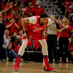 May 4, 2018; New Orleans, LA, USA; New Orleans Pelicans forward Anthony Davis (23) against the Golden State Warriors during the third quarter in game three of the second round of the 2018 NBA Playoffs at Smoothie King Center. The Pelicans defeated the Warriors 119-100. Mandatory Credit: Derick E. Hingle-USA TODAY Sports