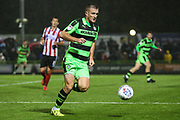 Forest Green Rovers Lee Collins(5) on the ball during the EFL Sky Bet League 2 match between Forest Green Rovers and Lincoln City at the New Lawn, Forest Green, United Kingdom on 12 September 2017. Photo by Shane Healey.