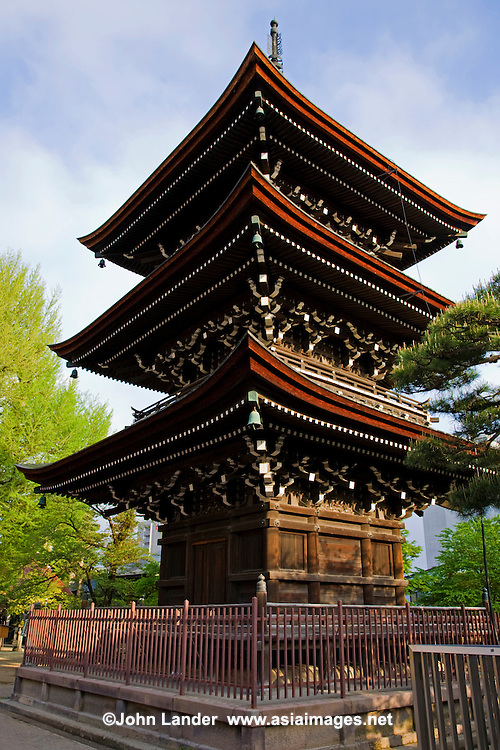 Kokubunji Temple Pagoda, Takayama - Kokubunji Temple is the oldest structure in Takayama. It has a 3-level pagoda and stands beside a ginkgo tree that is over 1,200 years old.
