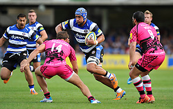 Leroy Houston of Bath Rugby in attack - Photo mandatory by-line: Patrick Khachfe/JMP - Mobile: 07966 386802 13/09/2014 - SPORT - RUGBY UNION - Bath - The Recreation Ground - Bath Rugby v London Welsh - Aviva Premiership
