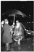 Jane Longmore going to the 'Winter ball', Grosvenor House 6.2.84© Copyright Photograph by Dafydd Jones 66 Stockwell Park Rd. London SW9 0DA Tel 020 7733 0108 www.dafjones.com