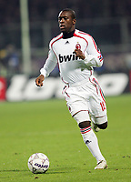 """Clarence Seedorf (Milan)<br /> Italian """"Serie A"""" 2006-07<br /> 16 Dic 2006 (Match Day 16)<br /> Fiorentina-Milan (2-2)<br /> """"Artemio Franchi"""" Stadium-Firenze-Italy<br /> Photographer Luca Pagliaricci INSIDE"""