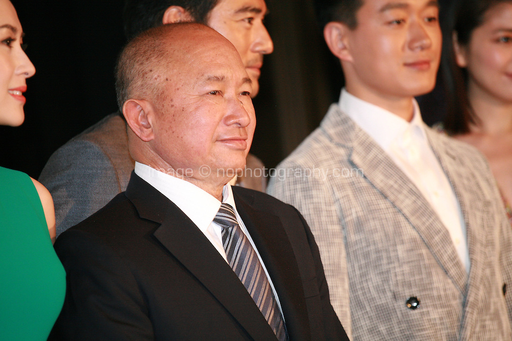 Zhang Ziyi, John Woo, Dawei Tong, at Press Conference for John Woo's forthcoming film The Crossing, Saturday 17th May 2014, Cannes, France.