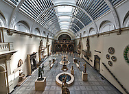 A high dynamic range photo of the inside the Victoria and Albert Museum in London, England on May 25, 2012.