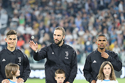 April 22, 2018 - Torino, Piemonte, Italy - in the picture:higuain .juventus.22 April 2018 - Turin, Italy - final match between F.C. Juneventu and SSC Napoli, at the Allianz Stadium in Turin, which is awarded the Scudetto in Serie A in Italy..Napoli wins 1-0. (Credit Image: © Fabio Sasso/Pacific Press via ZUMA Wire)