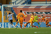 Sheffield Wednesday striker Fernando Forestieri  scores his second goal during the Sky Bet Championship match between Sheffield Wednesday and Wolverhampton Wanderers at Hillsborough, Sheffield, England on 20 December 2015. Photo by Simon Davies.