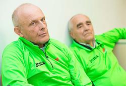 Svjetlan Vujasin and Martin Steiner during press conference of Slovenian Team for European Indoor Athletics Championships Prague 2015, on March 4, 2015 in Ljubljana, Slovenia. Photo by Vid Ponikvar / Sportida