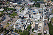 Nederland, Limburg, Gemeente Maastricht, 27-05-2013; Academisch Ziekenhuis Maastricht ,  De werkzaamheden van de A2-tunnel (rechts) zijn nog net te zien, oplevering 2016. <br /> University hospital Maastricht, close-up.<br /> luchtfoto (toeslag op standaardtarieven);<br /> aerial photo (additional fee required);<br /> copyright foto/photo Siebe Swart.