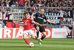 28.04.2013, Coface Arena, Mainz, GER, 1. FBL, 1. FSV Mainz 05 vs Eintracht Frankfurt, 31. Runde, im Bild Andreas Ivanschitz (Mainz) gegen Sebastian Rode (Mainz) // during the German Bundesliga 31th round match between 1. FSV Mainz 05 and Eintracht Frankfurt at the Coface Arena, Mainz, Germany on 2013/04/28. EXPA Pictures © 2013, PhotoCredit: EXPA/ Eibner/ Neurohr..***** ATTENTION - OUT OF GER *****