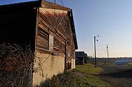 Vassar Farm.Barn with red silo.Vassar College