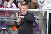 Northampton Town Manager Chris Wilder  during the Sky Bet League 2 match between Northampton Town and Notts County at Sixfields Stadium, Northampton, England on 2 April 2016. Photo by Dennis Goodwin.