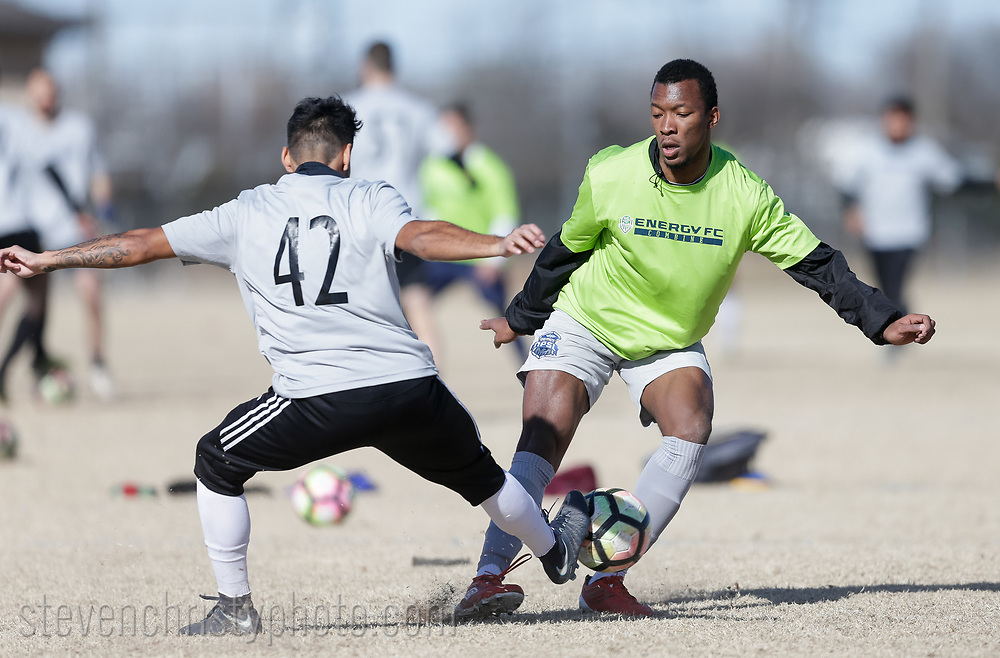 January 27, 2018: OKC Energy FC holds an open combine at Edmond Soccer Club in Edmond, Oklahoma.