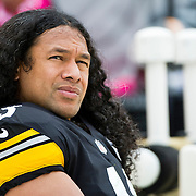 October 07, 2012:   Pittsburgh Steelers strong safety Troy Polamalu (43) looks on after returning to action during the game between The Philadelphia Eagles and The Pittsburgh Steelers at Heinz Field in Pittsburgh, PA.The Pittsburgh Steelers defeat the Philadelphia Eagles 16-14. (Credit Image: © Kostas Lymperopoulos/Cal Sport Media)
