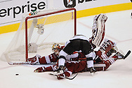 May 13, 2012; Glendale, AZ, USA; XXX in the first period of game one of the Western Conference finals of the 2012 Stanley Cup Playoffs at Jobing.com Arena.  Mandatory Credit: Jennifer Stewart-US PRESSWIRE.