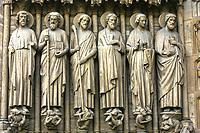 Notre Dame de Paris carhedral carving sculpture  in france