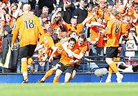 Football - Scottish FA Cup Final - Dundee United vs. Ross County<br /> <br /> Dundee United's double goal scorer  Craig Conway celebrates his first goal during the  3-0 win over Ross County
