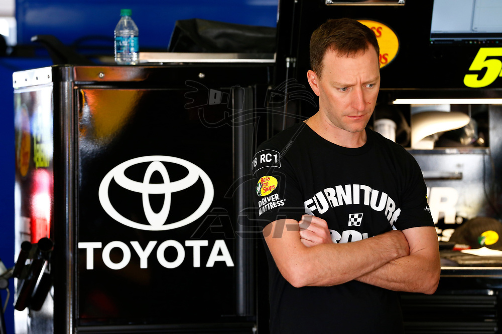 February 23, 2018 - Hampton, Georgia, USA: The crew chief for Martin Truex Jr (78) hangs out in the garage during practice for the Folds of Honor QuikTrip 500 at Atlanta Motor Speedway in Hampton, Georgia.