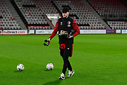 Aaron Ramsdale (12) of AFC Bournemouth on the pitch ahead of the The FA Cup match between Bournemouth and Arsenal at the Vitality Stadium, Bournemouth, England on 27 January 2020.