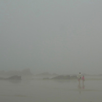 EN&gt; Fog covers the beach of Saint Lunaire in Brittany, France |<br />